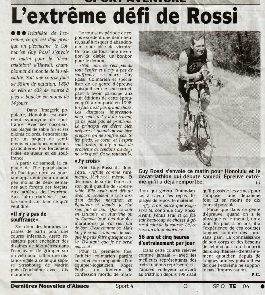Les DNA de novembre 2004, L'extrême défi de Rossi