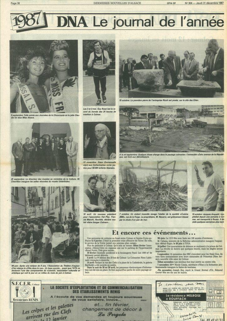 Les DNA du 31 décembre 1987, Le journal de l'année