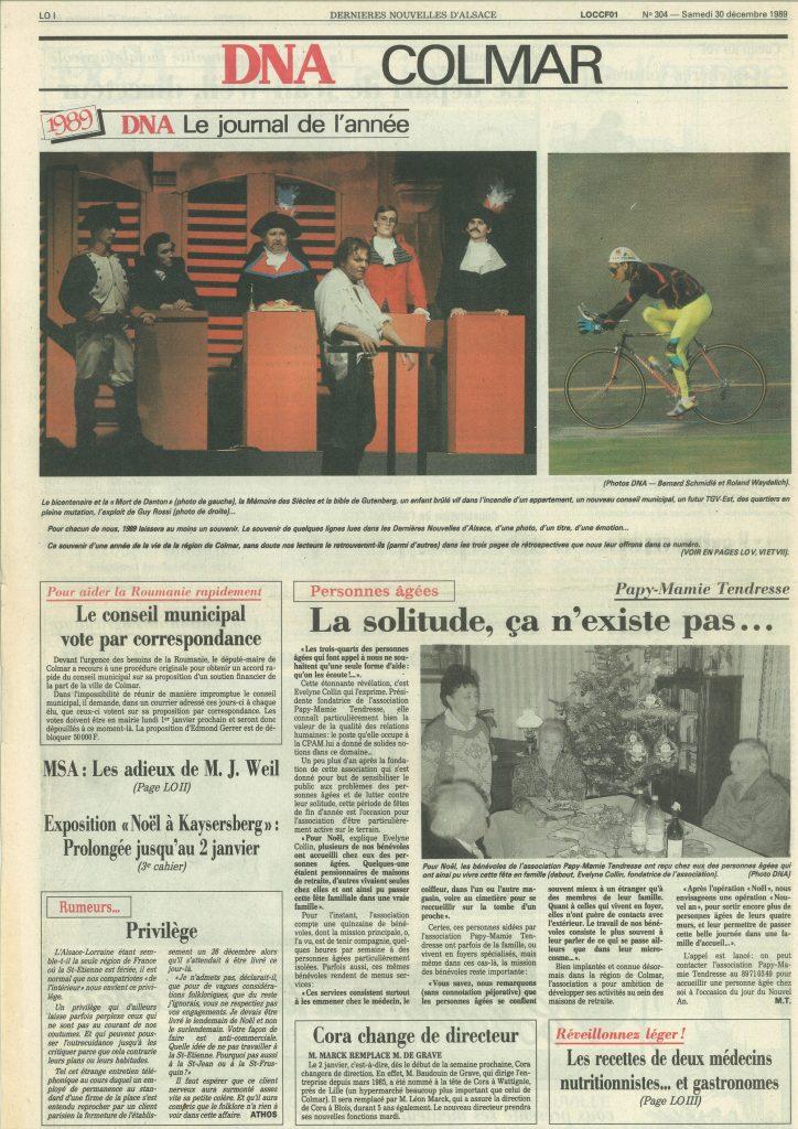 Les DNA du 31 décembre 1989, Le journal de l'année