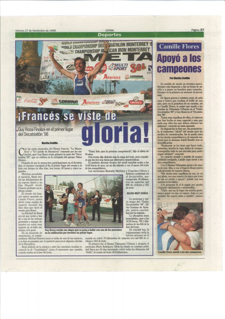 La Verda (Mexique) du 27 novembre 1998, Frances se viste de gloria