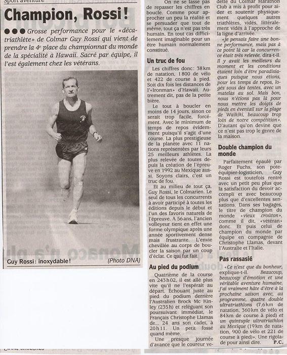 Les DNA du 08 décembre 2004, Champion Rossi!