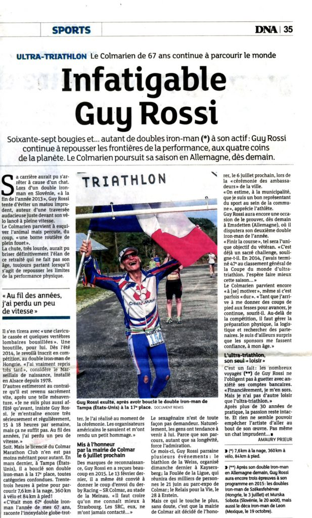 Les DNA du 12 juin 2015, Infatigable Guy Rossi